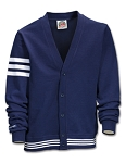 Cardigan - Navy / White