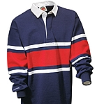 Collegiate - Navy / White / Red Stripe