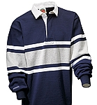 Collegiate - Navy / White / Ash Stripe